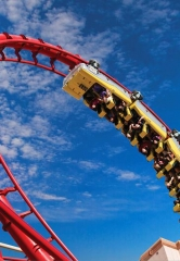 Adventure-Seekers Hold On Tight for Thrills on National Roller Coaster Day at New York-New York and Circus Circus August 16