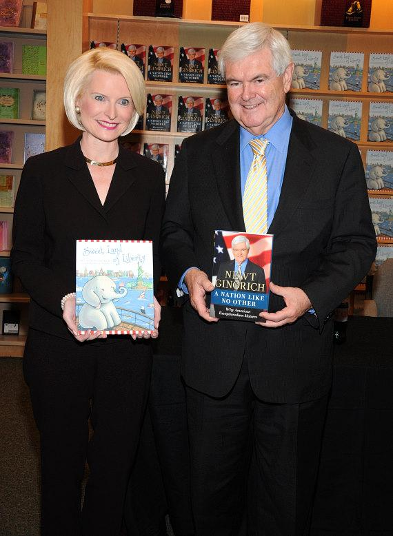 Callista and Newt Gingrich at book signing in Barnes & Noble in Las Vegas