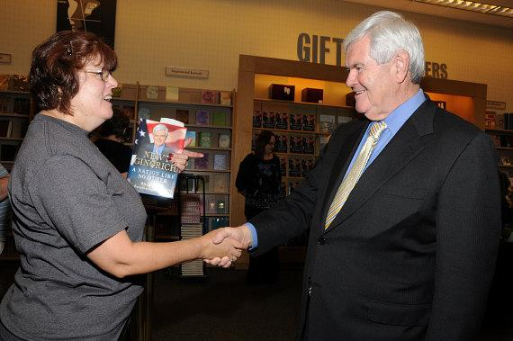 Newt Gingrich at book signing at Barnes & Noble in Las Vegas