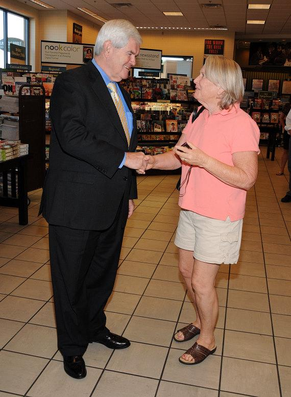 Newt Gingrich at book signing in Barnes & Noble on W. Charleston in Las Vegas