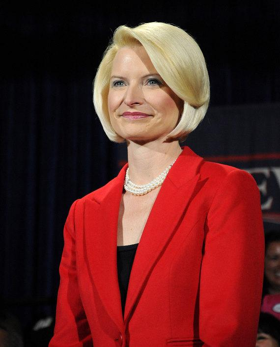 Newt Gingrich's wife Callista at Stoney's Rockin' Country in Las Vegas