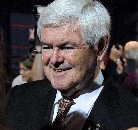 Newt Gingrich speaks at campaign rally at Stoney's Rockin' Country in Las Vegas