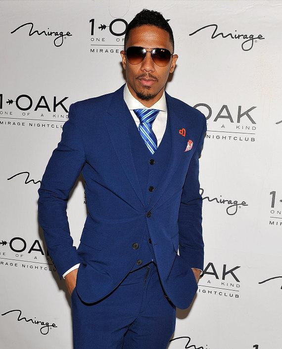 Nick Cannon on red carpet at 1 OAK Las Vegas at The Mirage