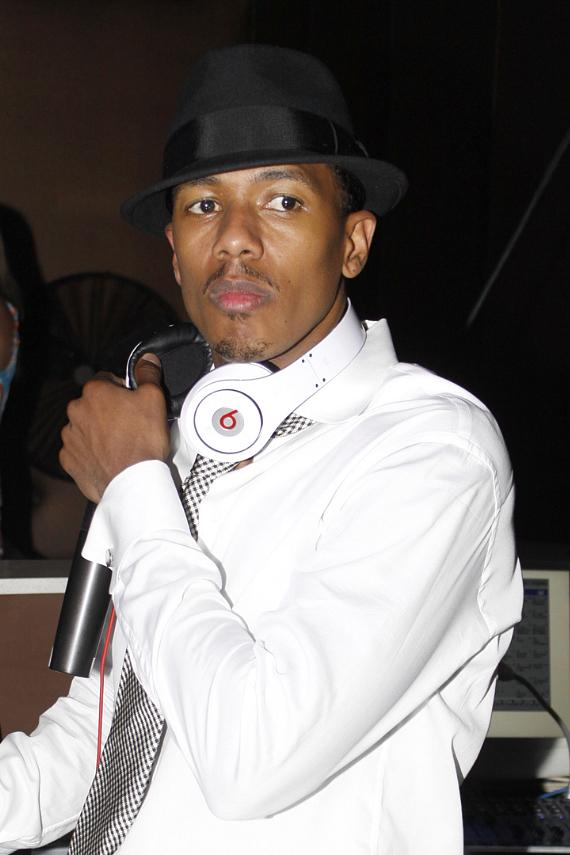 Nick Cannon deejays at PURE Nightclub