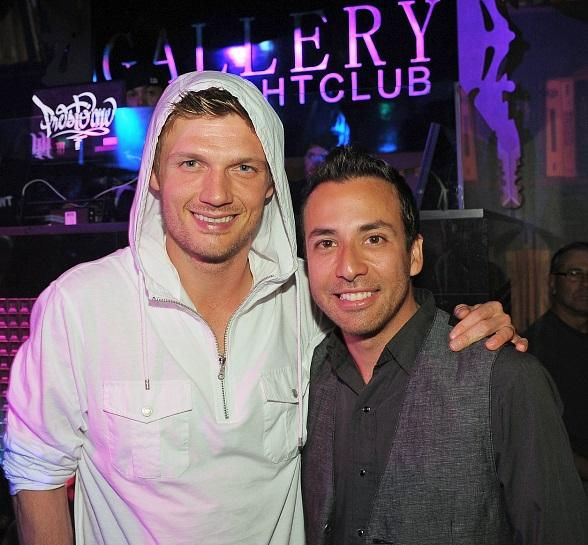 Nick Carter and Howie Dorough at Gallery