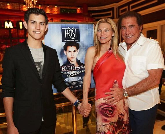 Nick Hissom with Andrea and Steve Wynn