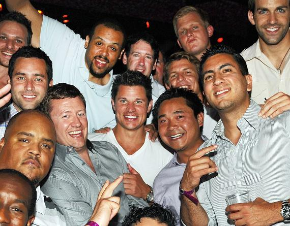 Nick Lachey and friends at TAO