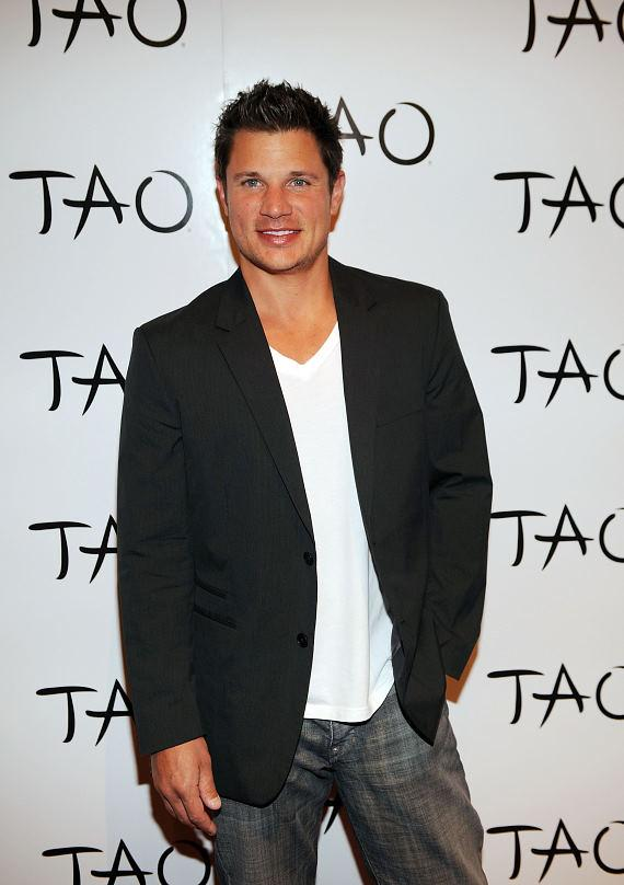 Nick Lachey on TAO Red Carpet
