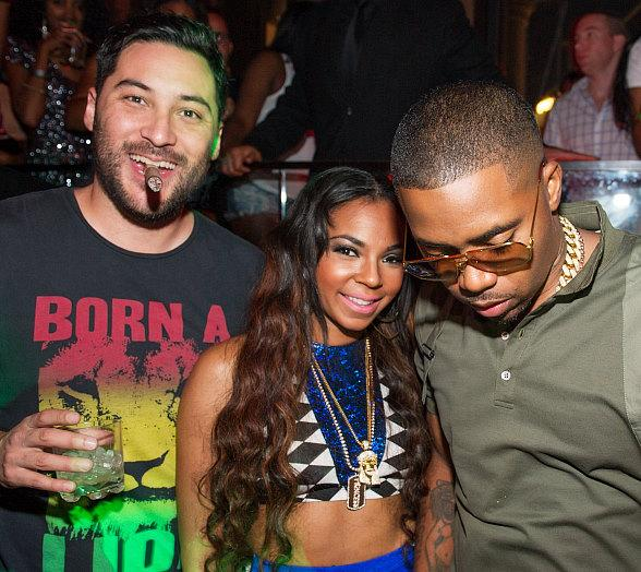 Nick Sakai, Ashanti and Nas at TAO