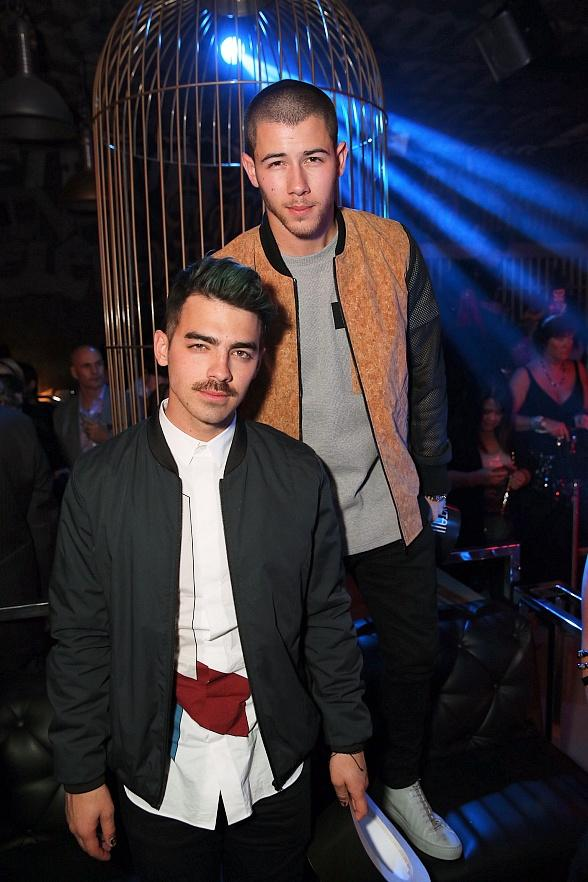 Nick Jonas and Plain White T's celebrate New Year's Eve at SLS Las Vegas