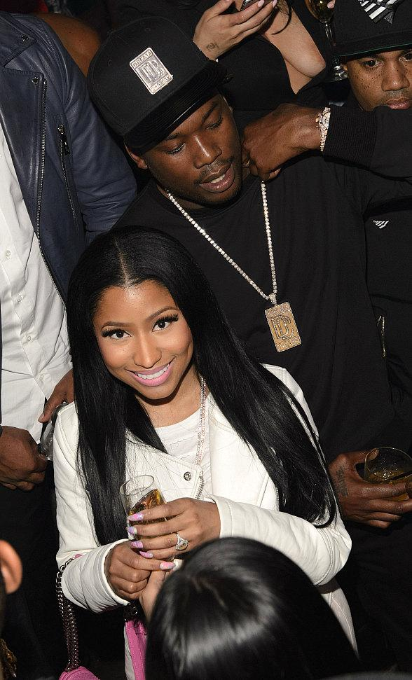 Jay Z, Young Jeezy, Nicki Minaj, Fabolous, Swiss Beatz, Eric DLux at Marquee on Fight Night