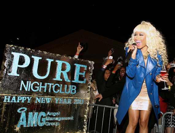 Nicki Minaj does NYE countdown at PURE Nightclub