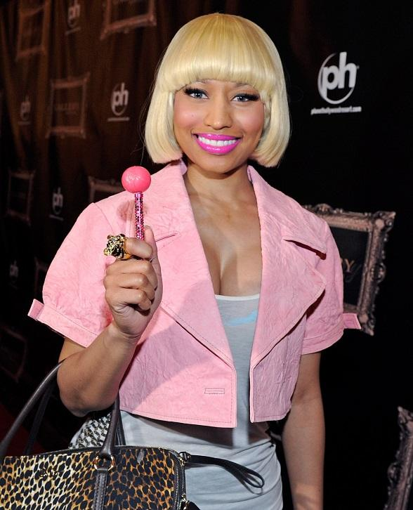 Nicki Minaj on the red carpet at Gallery Nightclub with a Sugar Factory Couture Pop