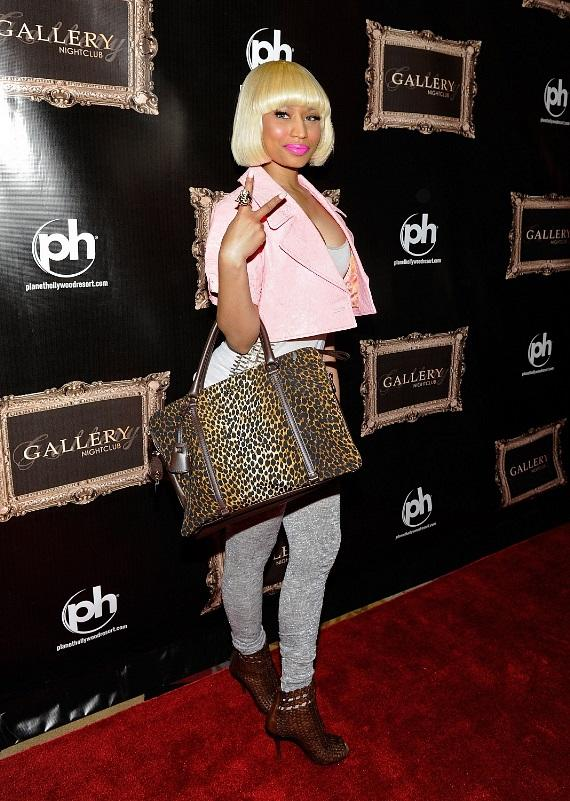 Nicki Minaj walks the red carpet at Gallery Nightclub inside Planet Hollywood Resort & Casino