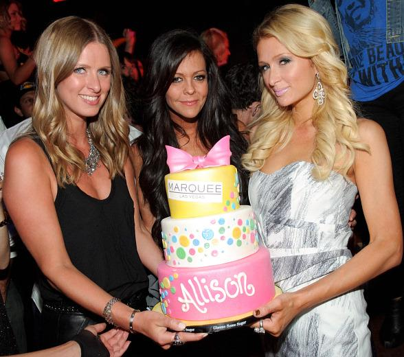 Nicky Hilton, Allison Melnick and Paris Hilton at Marquee Nightclub
