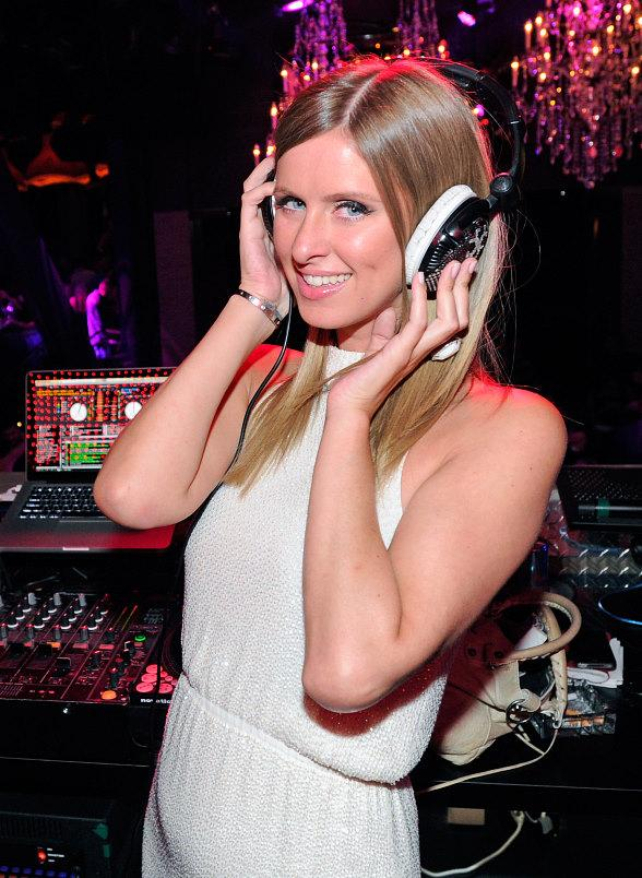 Nicky Hilton hits the DJ booth at Chateau Nightclub & Gardens at Paris Las Vegas