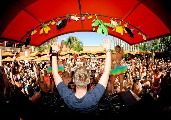 Nicky Romero spins at TAO Beach during EDC Week