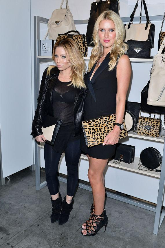 Designer Nicky Hilton with Linea Pelle creative director, Donna Katz Basso at ENK in Las Vegas