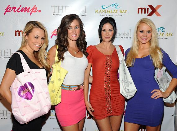 Jessica Hall, Kara Kramer, Jayde Nicole and Stacy Fuson