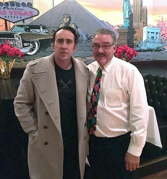 Academy Award-Winning Actor Nicolas Cage Dines at The Palm Restaurant of Las Vegas