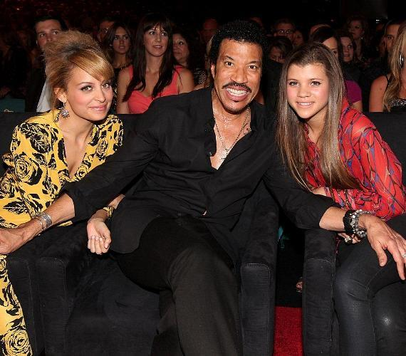Nicole, Lionel and Sofia Richie