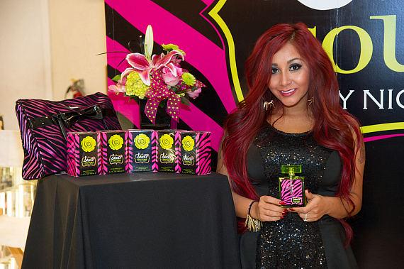 Nicole Snooki Polizzi with Snooki Couture at Perfumania in Las Vegas