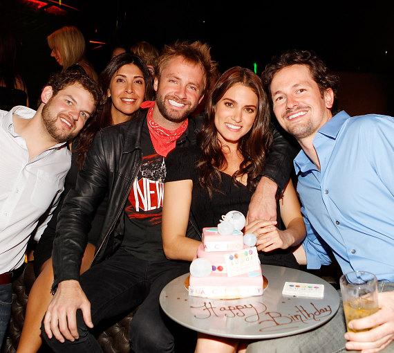 Nikki Reed, Paul McDonald and friends celebrate her birthday at Gallery Nightclub
