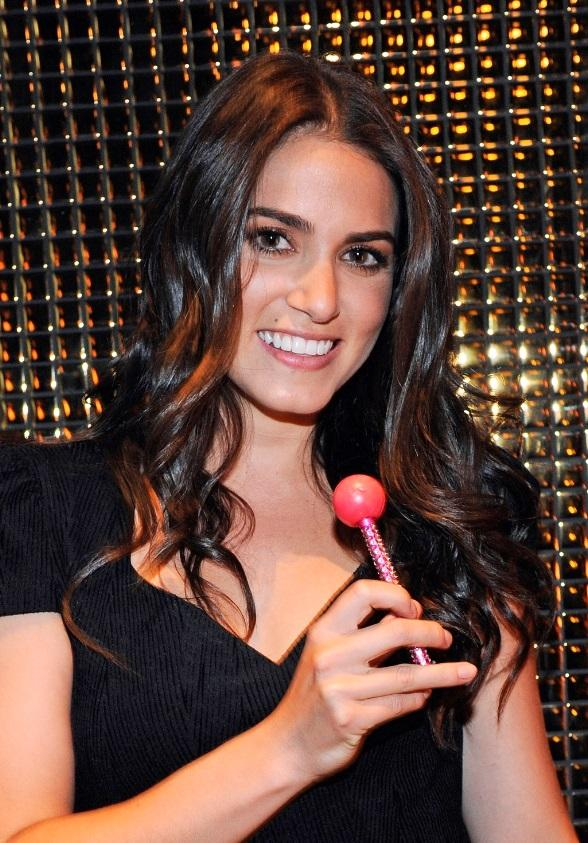 Nikki Reed with Sugar Factory's signature Couture Pop