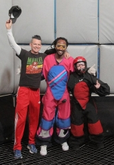 No Doubt's Adrian Young and Stephen Bradley took Vegas to new heights at Vegas Indoor Skydiving