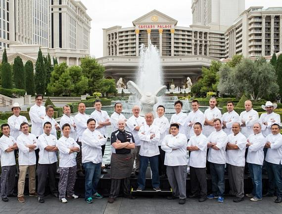 Chef Nobu Matsuhisa welcomes 27 Nobu chefs from across the country at Caesars Palace Las Vegas in celebration of Nobu United
