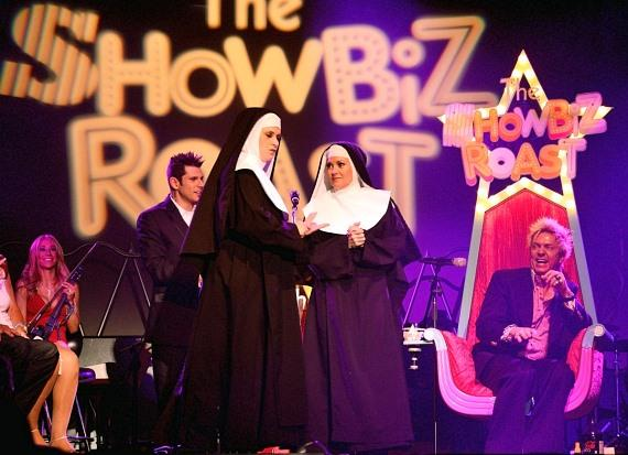 Nuns from the Vegas show Nunsense scold Chris Phillips