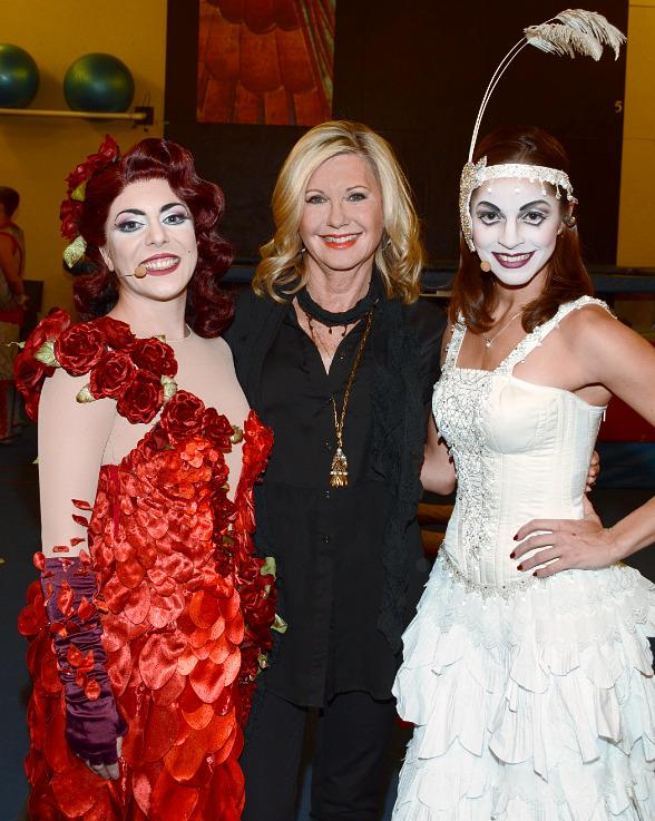 Olivia Newton-John Attends Zarkana by Cirque du Soleil at ARIA Resort & Casino