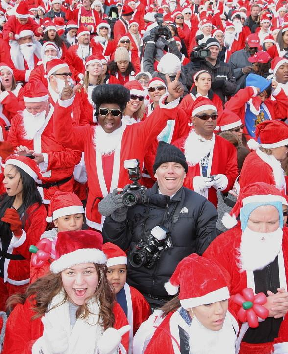 Last year's Great Santa Run
