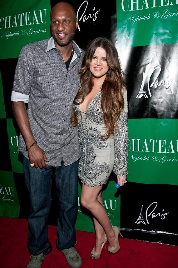 Khloé Kardashian Odom and husband Lamar Odom