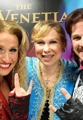 Olympic Gold Figure Skater Oksana Baiul Attends Rock of Ages at The Venetian Las Vegas