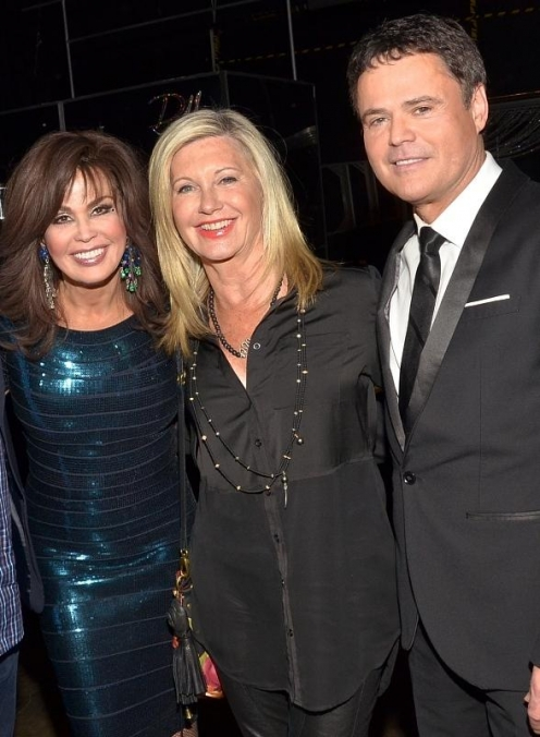 Olivia Newton-John Visits Donny & Marie at Flamingo Las Vegas