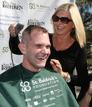 Olivia Newton-John, Chippendales, FANTASY, Kristen Hertenzberg, Thunder from Down Under at 6th Annual St. Baldrick's Day Head-Shaving Event