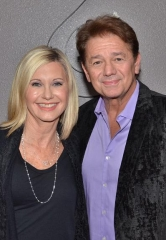 "Actor Adrian Zmed with Olivia Newton-John in ""Summer Nights"" at Flamingo Las Vegas"