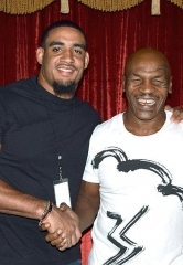 "NFL stars Olivier Vernon and Sam Brenner attend ""Mike Tyson Undisputed Truth"" at MGM Grand"