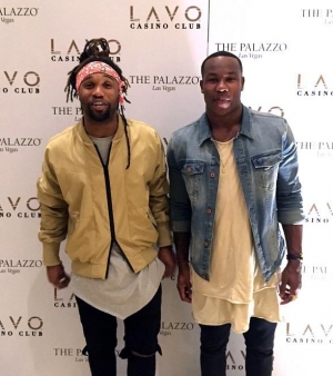 Chicago Bears safety Omar Bolden and Washington Redskins safety Duke Ihenacho spotted at LAVO Casino Club