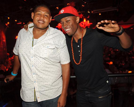 Omar Miller and Robbie Jones at TAO