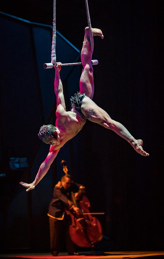 One Night for One Drop 2017 Performer Dazzles Guests with Stunning Aerial Routine