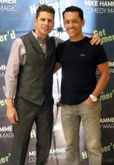 International Mentalist Frederic Da Silva visits The Mike Hammer Comedy Magic Show at Four Queens Hotel & Casino