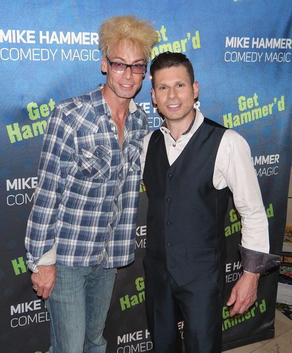 Magicians Murray SawChuck and Mike Hammer at the Four Queens Hotel & Casino in Las Vegas