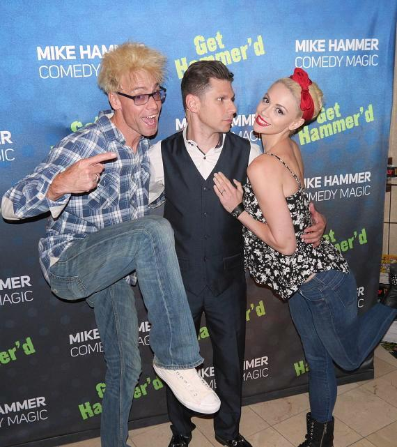 Magicians Murray SawChuck, Mike Hammer and Chloe Crawford at the Four Queens Hotel & Casino in Las Vegas