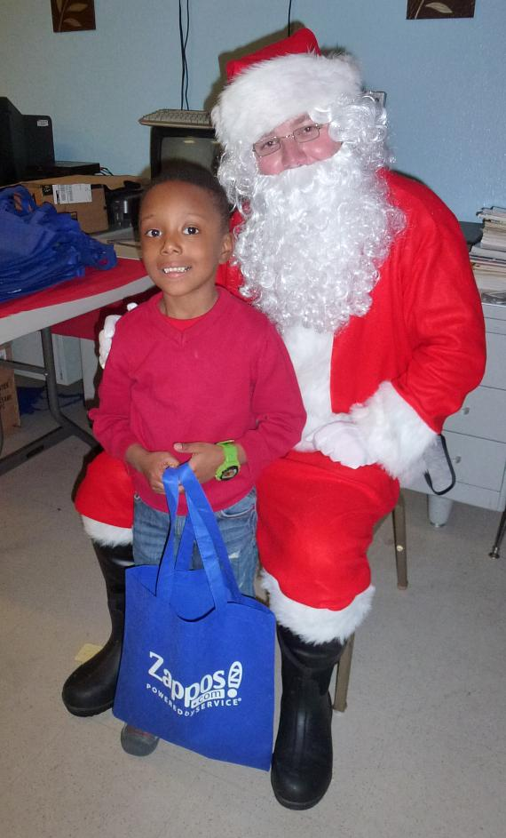 Santa Claus gives away toys at Variety Early Learning Center
