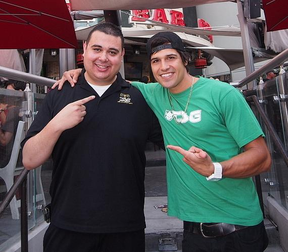 Host Robert Blasi and Pro BMX rider Ricardo Laguna
