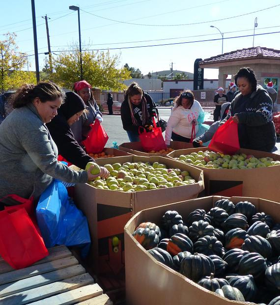 Three Square Food Bank supplied a special holiday farmer's market