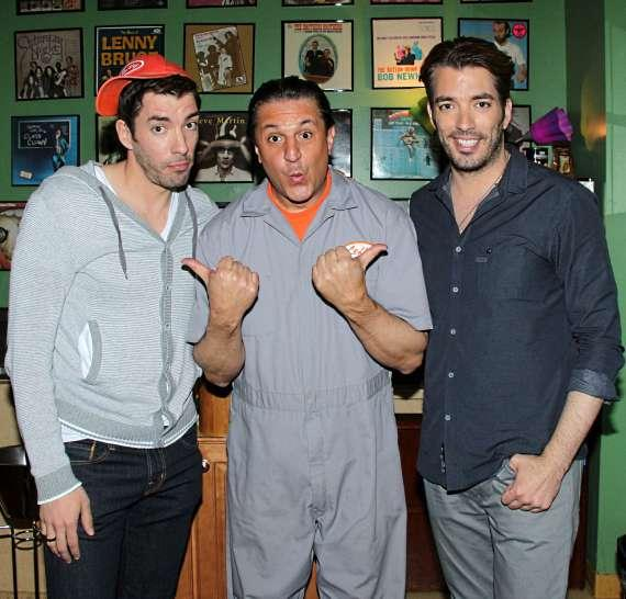 "Douglas ""Lefty"" Leferovich with the Property Brothers, Jonathan & Drew Scott"