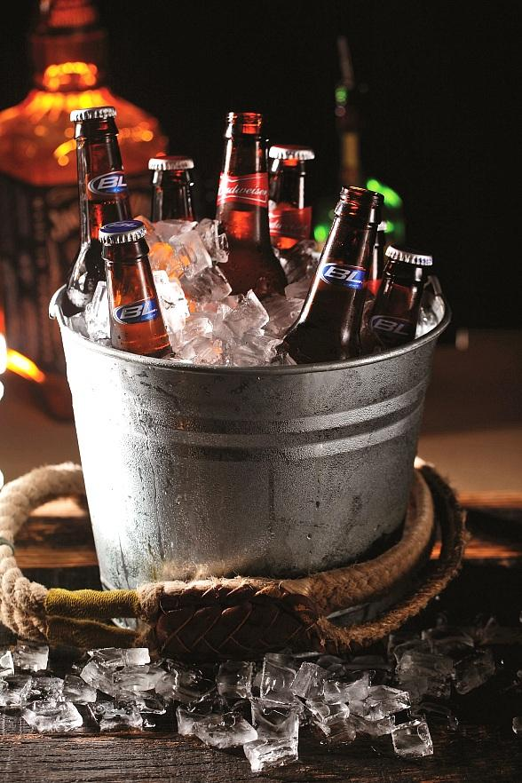 PBR Rock Bar Bucket of Beer